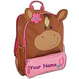 Stephen Joseph Personalized Little Girls' Sidekick Horse Backpack With Name