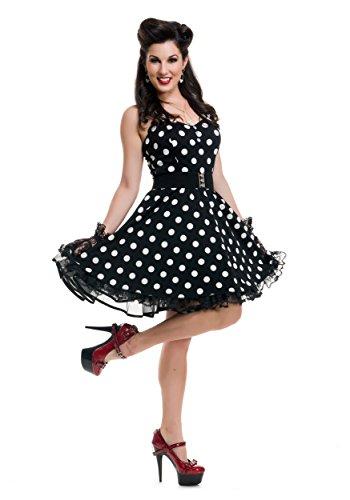 Women's Black Polka Dot Pin Up Costume X-Large
