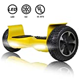 SISIGAD Off Road Hover Board, 8.5 Inch Hoverboard, Two-Wheel Self Balancing Hoverboard Electric Scooter All Terrain Hoverboard for Adult Kids Gift - Yellow