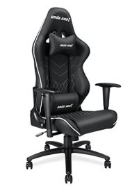 Anda Seat large size Gaming Chair, Ergonomic High-back Recliner Office Desk Chair, Swivel Rocker Tilt E-sports Chair PC Gaming Chair with Adjustable Armrests with Lumbar Support and Headrest (Black)