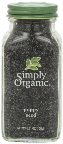 Simply Organic Poppy Seed Whole Certified Organic, 3.81-Ounce Container