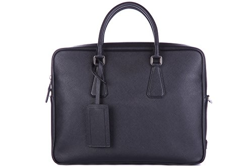 "41cCDnBQYhL ・Size: 14.2"" x 11"" x 3"", 36cm x 28cm x 7.5cm Color: Black (Nero) Material: Leather"