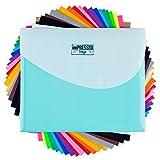 HTV Heat Transfer Vinyl: 20 Pack 12' x 10' Iron-on Sheets - 2 black, 2...