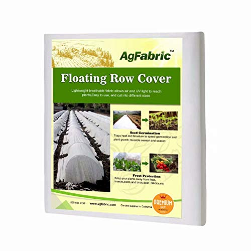 Agfabric Row Cover & Plant Blanket Roll Style, 2.0oz 13'x100' Warm Worth Ultra-Heavy Floating for Frost Protection, Harsh Weather Resistance& Seed Germination