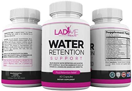 Water Retention Pills for Women Bloating Relief with Vitamin B6, Dandelion & Green Tea Natural Diuretic for Water Draining, Bloating & Swelling Detox Capsules - 60 Caps - by LadyMe 2