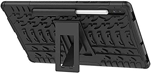 Zitel Armor Case for Samsung Galaxy Tab S6 2019 with S Pen Holder, Dual Layer Hybrid Drop Proof Full-Body Defender Cover with Stand for Samsung Tab S6 10.5 SM-T860/T865 - Black Armor 8