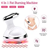Fat Burning Machine R/F Weight Loss Massager for Body Shaping Red Light Vibration Sliming Device with Smart LCD Display Rechargeable 4 in 1 Beauty Instrument