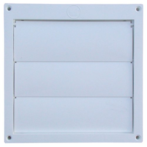 Speedi-Products EX-HLFW 06 6-Inch Diameter Louvered Plastic Flush Hood, White No Tailpipe