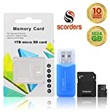 Micro SD Card 1 Tb | USB Adapter | SD Card Adapter | Pack of 3 | 10MB/s Transfer Rate | Plug and Play | All OS Compatible | Reliable and Stable Products | Large Storage Capacity