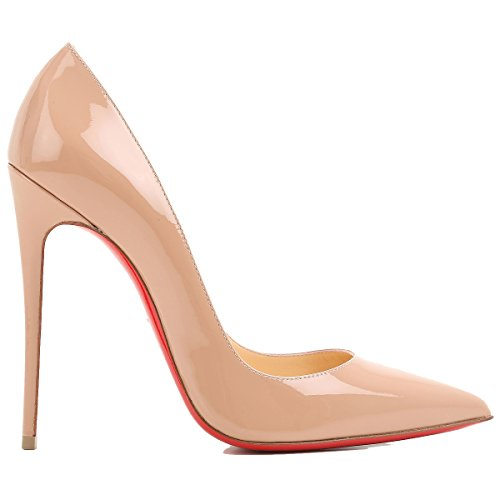 41cLc30lbTL PUMPS CHRISTIAN LOUBOUTIN, LEATHER 100%, color PINK, Heel 120mm, Leather sole, Model Name SO KATE, FW17, product code 3130694PK1AO FW17