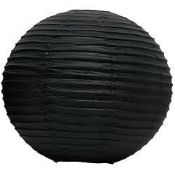 """Round Paper Lantern, 20"""", Black"""