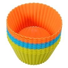 12X Silicone Cake Muffin Chocolate Cupcake Cups Mold