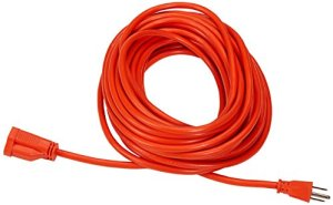 AmazonBasics 16/3 Vinyl Outdoor Extension Cord – (Orange)