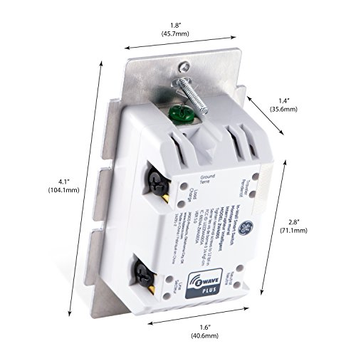 GE-Enbrighten-Z-Wave-Plus-Smart-Light-Switch-OnOff-Control-in-Wall-Incl-White-and-Lt-Almond-Paddles-RepeaterRange-Extender-Zwave-Hub-Required-Works-with-SmartThings-Wink-Alexa-14291