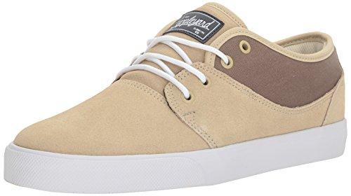 Globe Men's Mahalo Skateboarding Shoe, Sand/White, 8 M US