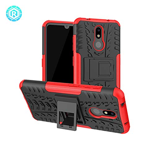 Prime Retail Military Graded Heavy Kickstand Back Phone case Rugged Shock Proof Anti-Wrestling Travel Essential Phone Accessories for Nokia 3.2 (Red) 173