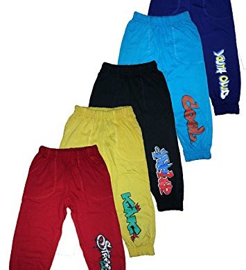 T2F Boys' Cotton Track Pant (Pack of 5, Multicolour) 23