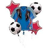 "5 Piece ""Soccer Balloon Mylar Bouquet Set"