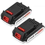2 Pack LBXR20 Replace for Black & Decker 20 Volt Battery 2000mAh Max LBXR20 LB20 LBX20 LST220 LBXR2020-OPE LBXR20B-2 LB2X4020 Cordless Tool Batteries