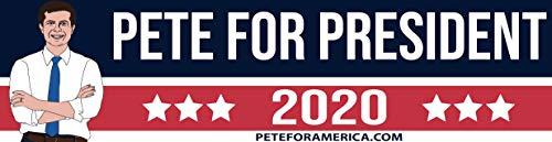 "Sustainablu Pete for President 2020 Bumper Sticker - Hand Drawn - 11.5"" x 3"""