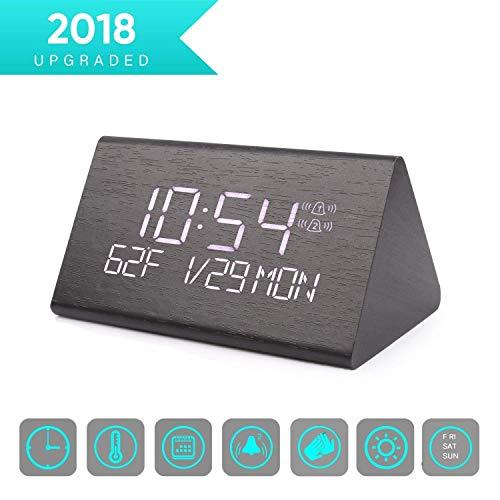 Warmhoming Wooden Digital Alarm Clock