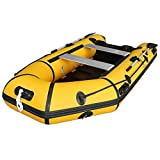Max4out Inflatable Boat Fishing Dinghy 2 Paddles Sport Tender Inflatable Raft 10 Feets (Yellow)