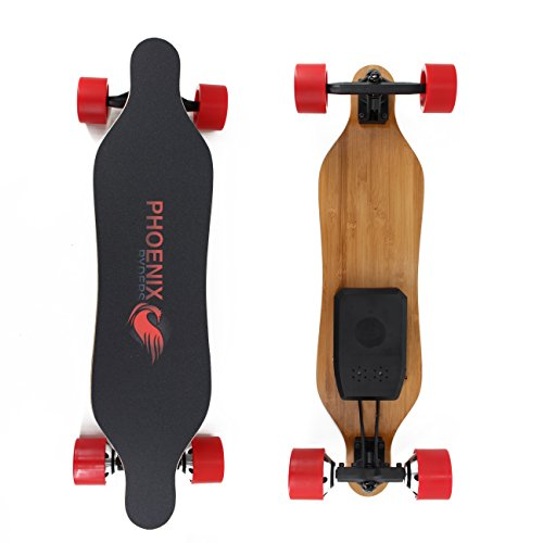 PHOENIX RYDERS Electric Skateboard 4.4AH Lithium Battery,Dual Motor Each 350W, 32 Inches Maple with Remote Control