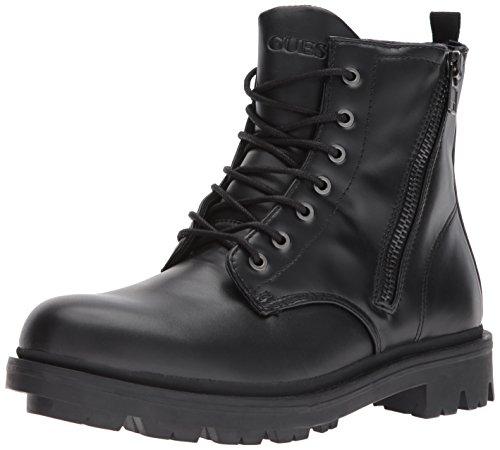 GUESS Men's Archibald Combat Boot, Black, 8.5 Medium US