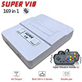 BAORUITENG  Handheld Game Console, 169 Classic Games (30 Vibrating Games ) Support Multiple TV Display Modes for Two Players Portable Retro Video Game Console , Good Gifts for Kids and Adult. (Gray)