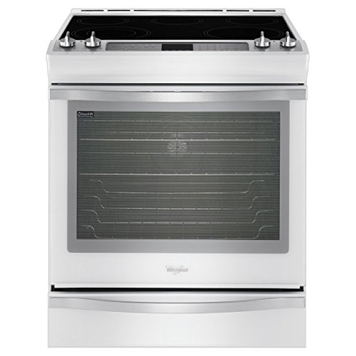 Whirlpool WEE760H0DH Ice Collection 30' White Ice Electric Slide-In Smoothtop Range - Convection