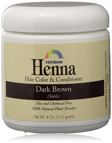 Rainbow Henna Persian Dark Brown Hair Color 4 Oz,...