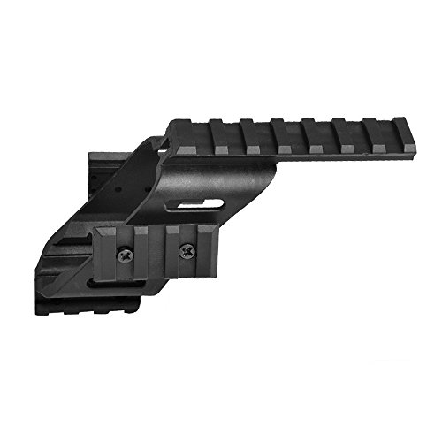 Higoo Universal Tactical Pistol Scope Sight Polymer Mount with Quad Weaver Picatinny Rail for Glock 17 5.56 S&W/1911/Glocks/Walther p22/HKp30/SD9VE 9mm