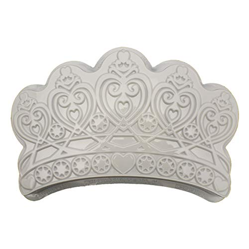 CK Products 49-5201 Plastic Princess Crown Cake Pan, White