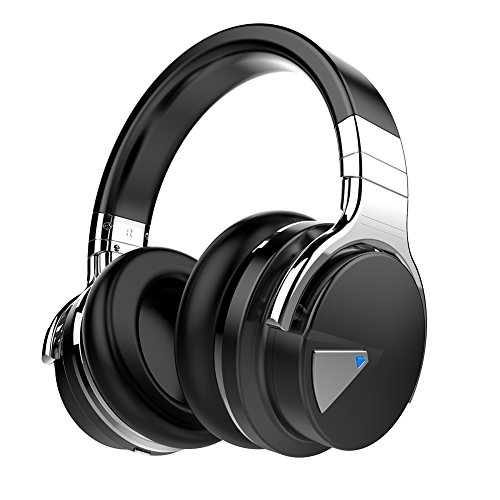 Cowin E 7 Active Noise Cancelling Wireless Bluetooth Over ear Stereo Headphones with Microphone and Volume Control   Black  Image of 41csjDj9QaL