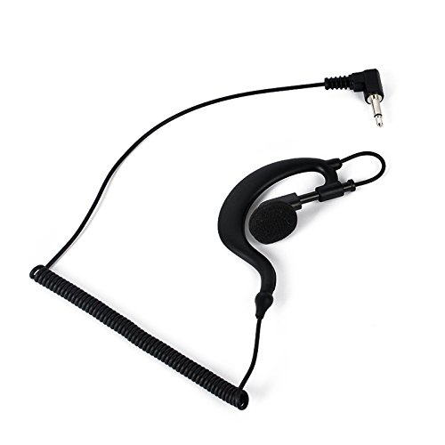 HYS G Shape Soft Ear Hook Earpiece Headset 3.5mm Plug Ear Hook Listen Only Ham Radio Earpiece/Headset TC-617 Receiver/Listen Only Earpiece for 2-Way Motorola Icom Radio Transceivers