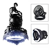 IMAGE Portable LED Camping Lantern with Ceiling Fan - Hurricane Emergency Survival Kit