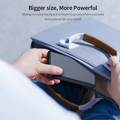 iPosible Power Bank 25800mAh, 【Versione Aggiornata – Alta capacità】 Caricabatterie Portatile Cellulare Batteria Esterna 2 Uscite Porte per Cellulare, Tablet – Nero Opaco