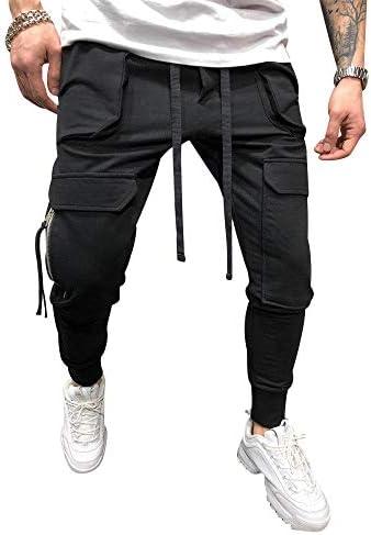lexiart Mens Fashion Athletie Cargo Pants - Casual Joggers Sweatpants Slim Fit Pants 5