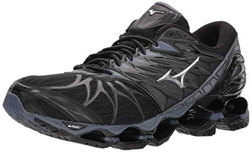Mizuno Wave Prophecy 7 Men's Running Shoes Black/Silver 9 D US
