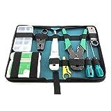 Network Cable Repair Maintenance Tool Kit Set Rj45 Rj11 Cat5e Cat6 Cable Tester Test Crimper Crimping Stripper Cutter Tool Kit