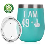 30th Birthday Gifts For Women Men 30th Bday For Her Him 29 + One Finger Funny Wine Gift Idea  12oz Insulated Stainless Steel Tumbler with lid Funny Turning 30 Gift  Anniversary Gift Idea for Him, Her