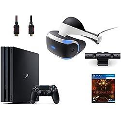 PlayStation VR Bundle 4 Items:VR Headset,Playstation Camera,PS4 Pro 1TB,VR game disc PSVR Until Dawn: Rush of Blood