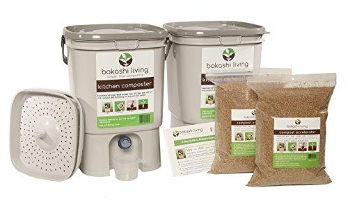 Bokashi Composting Starter Kit (Includes 2 Bokashi Bins, 3.5lbs of Bokashi Bran and Full Instructions)