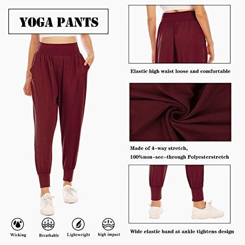 Zamowoty Womens Workout Sweatpants High Waist Yoga Joggers Running Pants Pajama Lounge Pants with Pockets 5