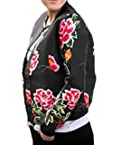 Product review for YILLEU Women Casual Long Sleeve Floral Print Stand Collar Lightweight Zip Up Top Bomber Jackets With Pockets