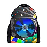 Backpack Disco Background Personalized Shoulders Bag Classic Lightweight Daypack for Men/Women/Students School