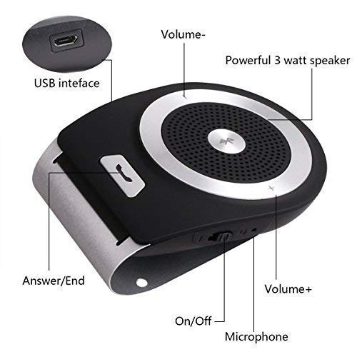 Bluetooth hands-free 4 1 car kit AUTO-ON adapter with motion