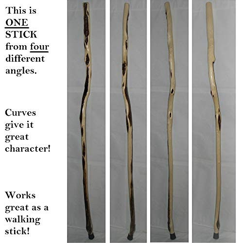 70 Inch Xt Willow Wizard Walking Staff Thick With 23 Wood Diamonds