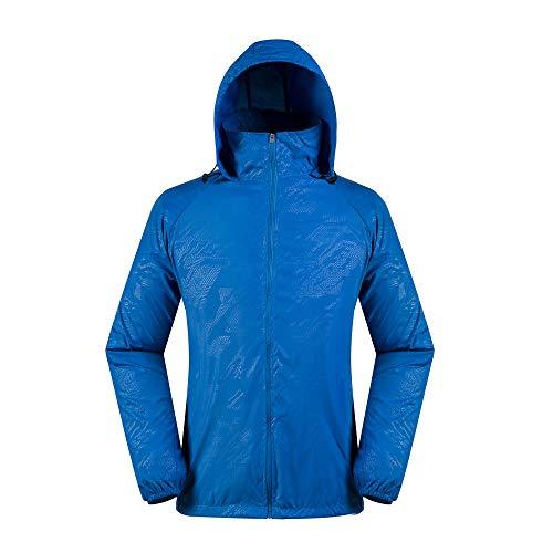 Realdo Womens Mens Waterproof Jacket, Lightweight Windbreaker Quick Dry Solid Running Coat + Storage Bag