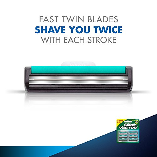Gillette Vector Plus Manual Shaving Razor Blades (Cartridge) - 6s Pack 20